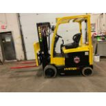 FREE CUSTOMS - 2014 Hyster 5000lbs Capacity Forklift Electric with 4-STAGE MAST with sideshift &