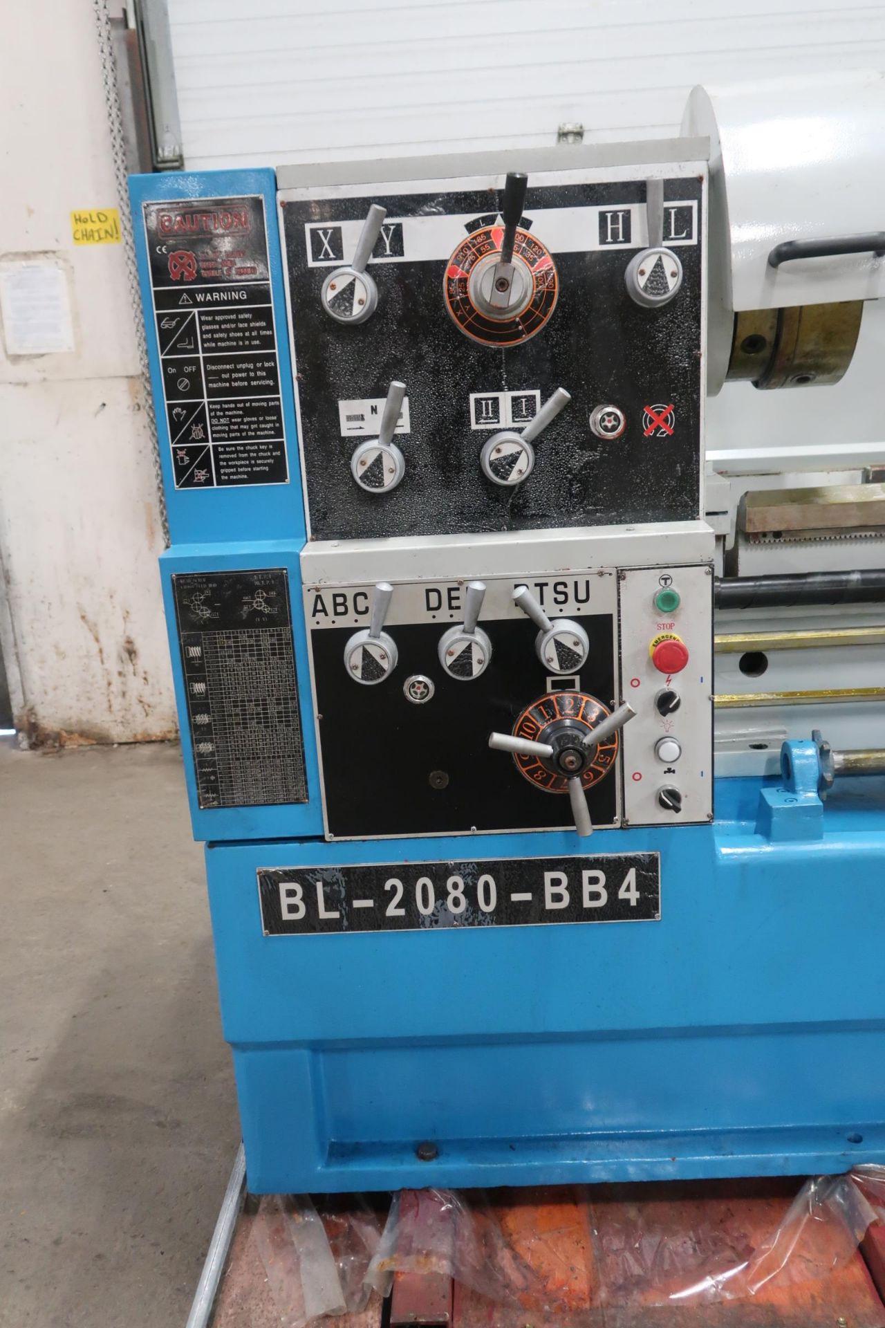 """Bernardo Macchina Engine Lathe model BL-2080-BB4 - LARGE 4"""" Spindle Bore with 20"""" Swing with 80"""" - Image 3 of 4"""