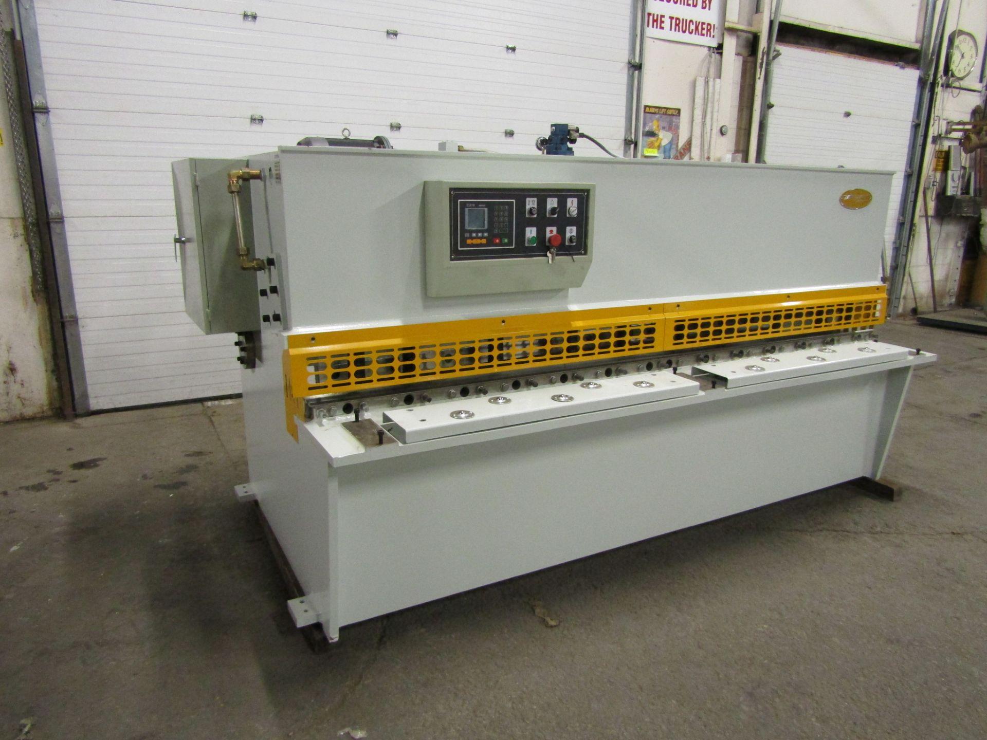 "Bernardo Hydraulic Shear 3/16"" max capacity 98"" width - 480/575V 3 phase MINT UNUSED UNIT complete"