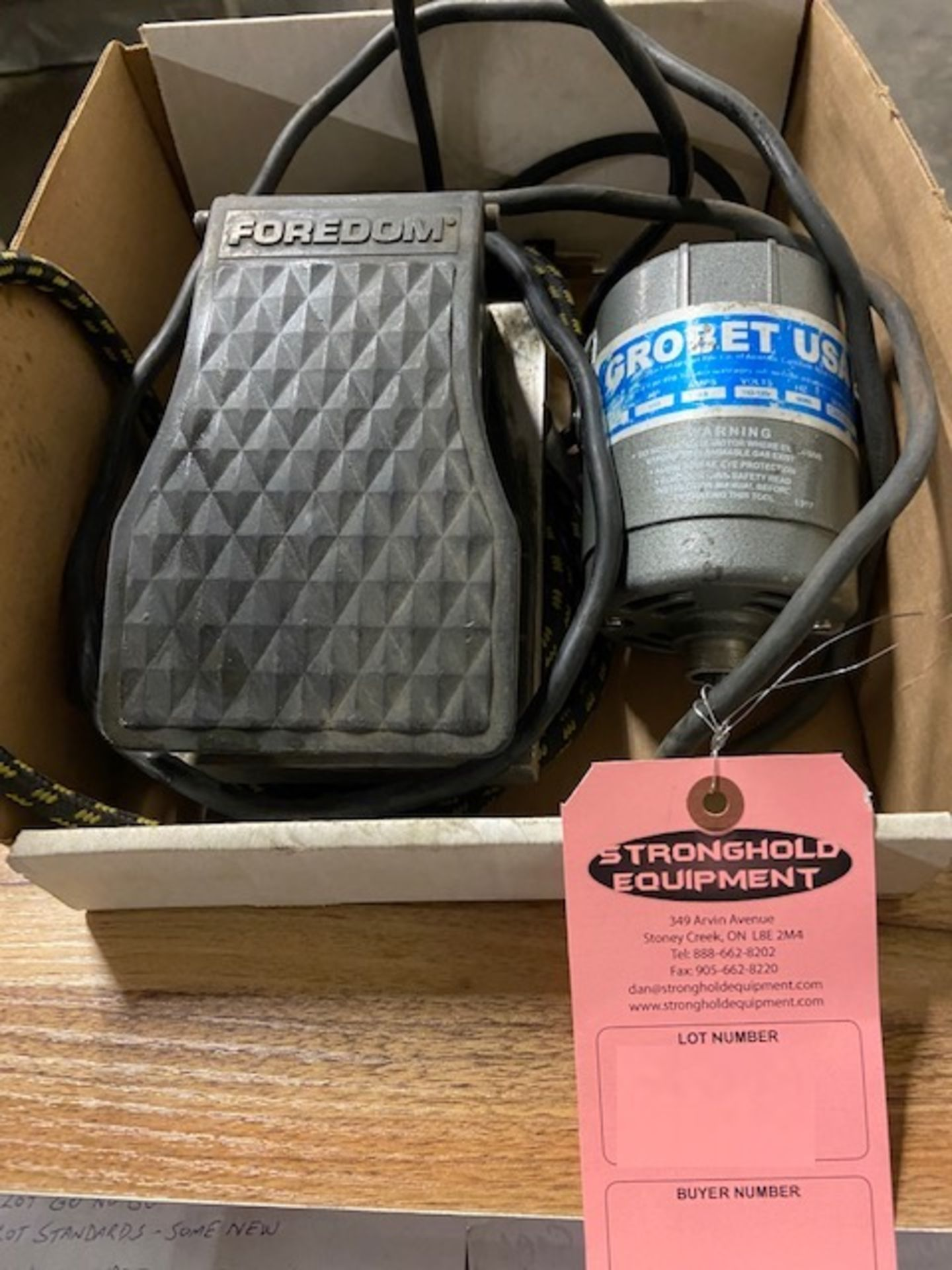 Grobet USA diprofil Power Unit with Foredom Foot Control Unit 110V