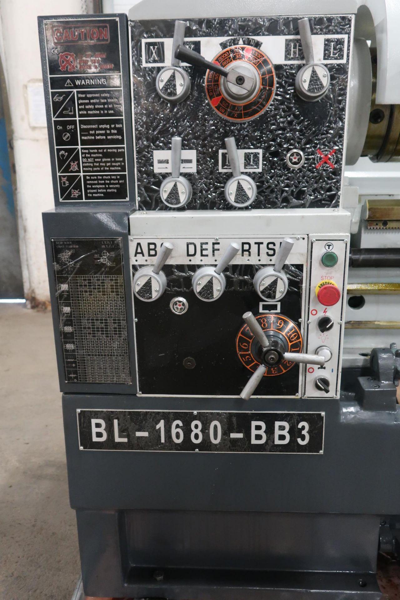 """Bernardo Macchina Engine Lathe model BL-1680-BB3 - LARGE 3"""" Spindle Bore with 16"""" Swing with 80"""" - Image 2 of 3"""