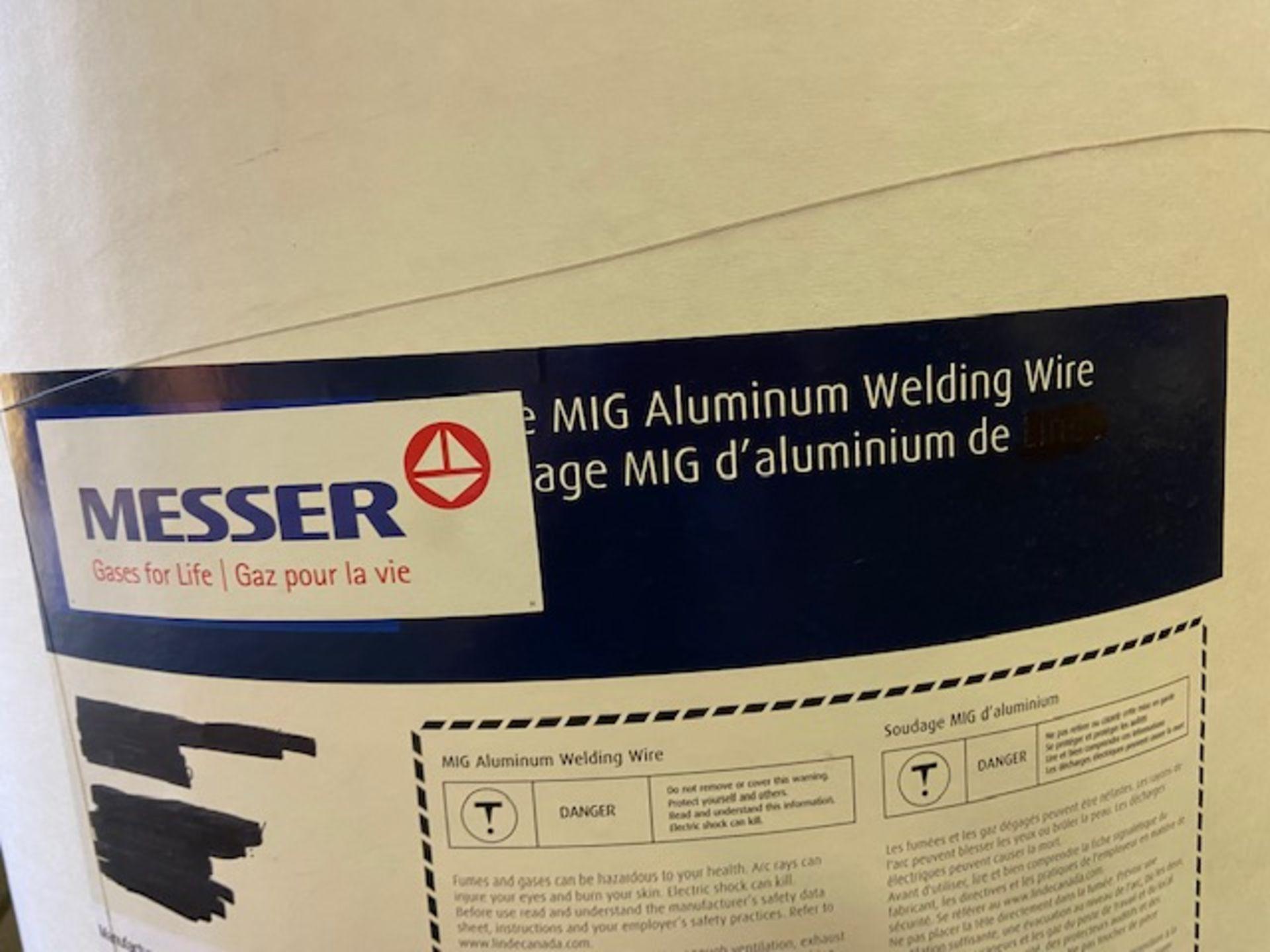 """Messer Linde Mig Welding Wire Aluminum DRUM Barrel 150lbs 3/64"""" ER 3043 - made in Switzerland - Image 2 of 3"""