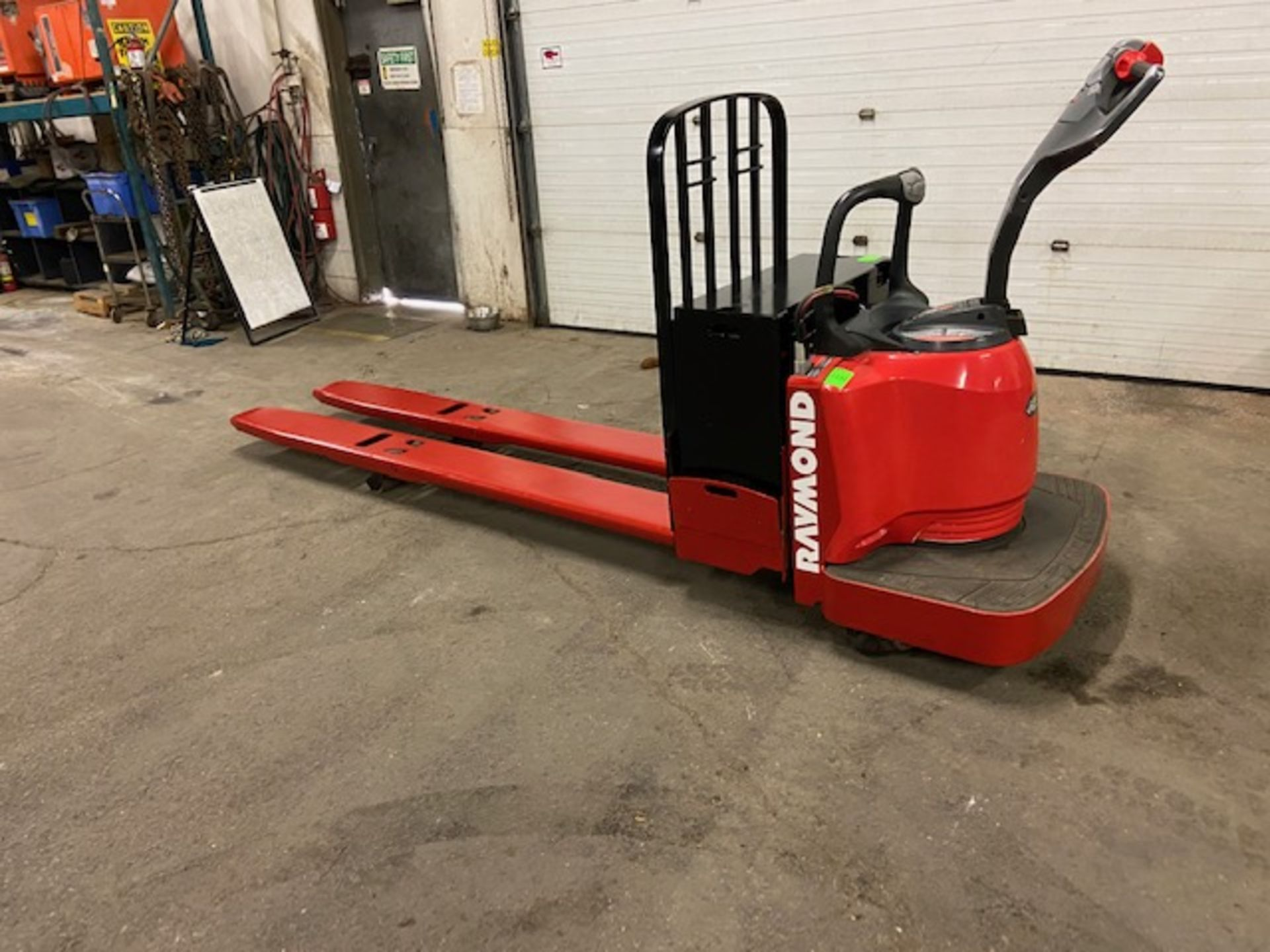 Raymond Electric Ride on Powered Pallet Cart Lift 8000lbs capacity 8' Long NICE