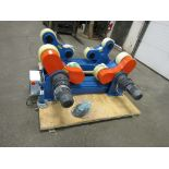 Verner model Power tank rolls - Powered turning roll and idler 20000lbs capacity with foot pedal