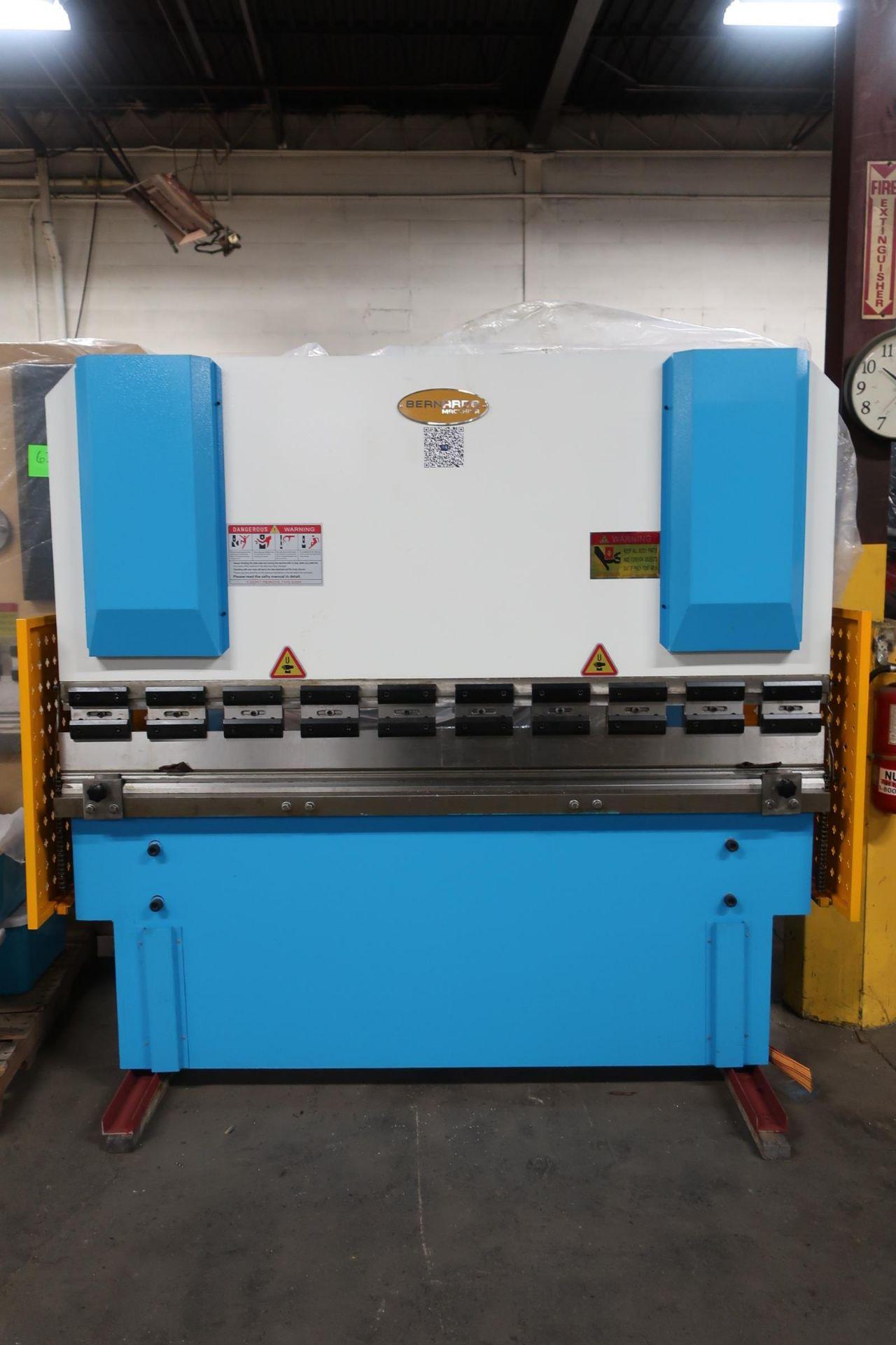 "Bernardo Hydraulic Press Brake 40 ton capacity 80"" bed - 460/575V 3 phase with CNC back gauge and"