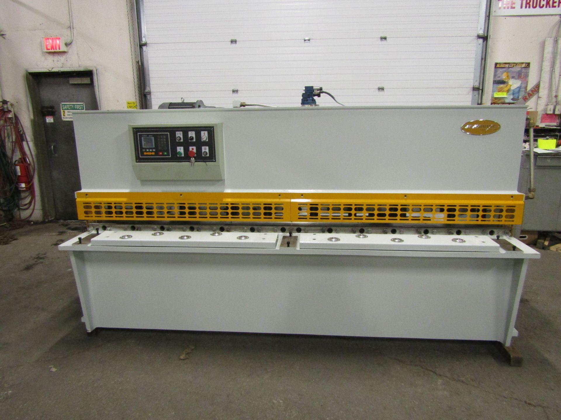"Bernardo Hydraulic Shear 3/16"" max capacity 98"" width - 480/575V 3 phase MINT UNUSED UNIT complete - Image 6 of 6"