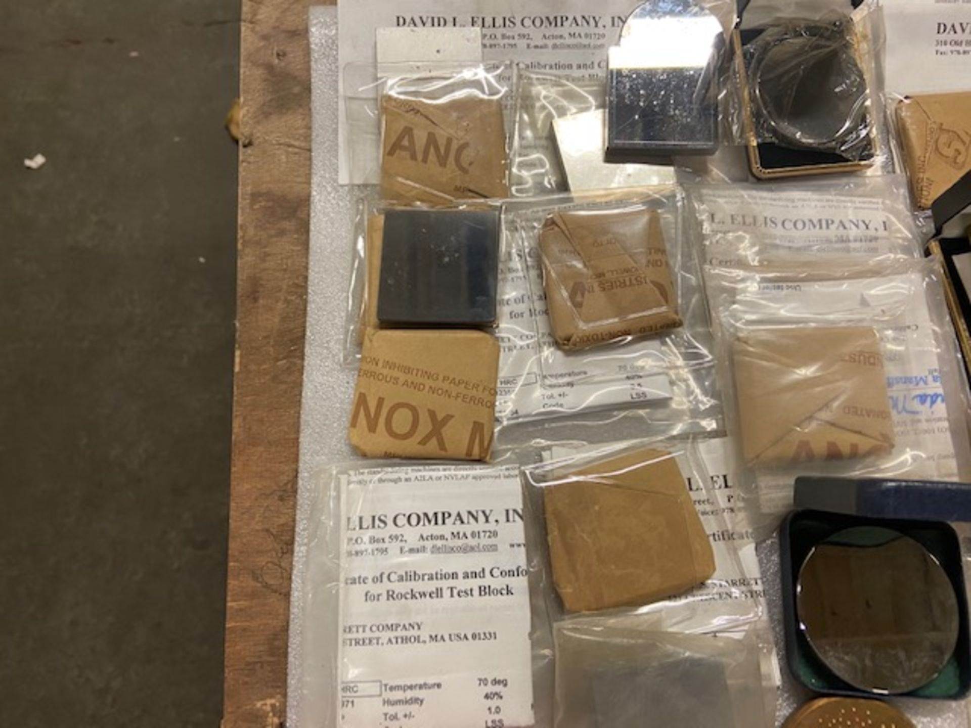 Large Lot of Hardness Tester Test Blocks - many with Certificates ATS, Sun-Tec, Wilson - Image 3 of 4