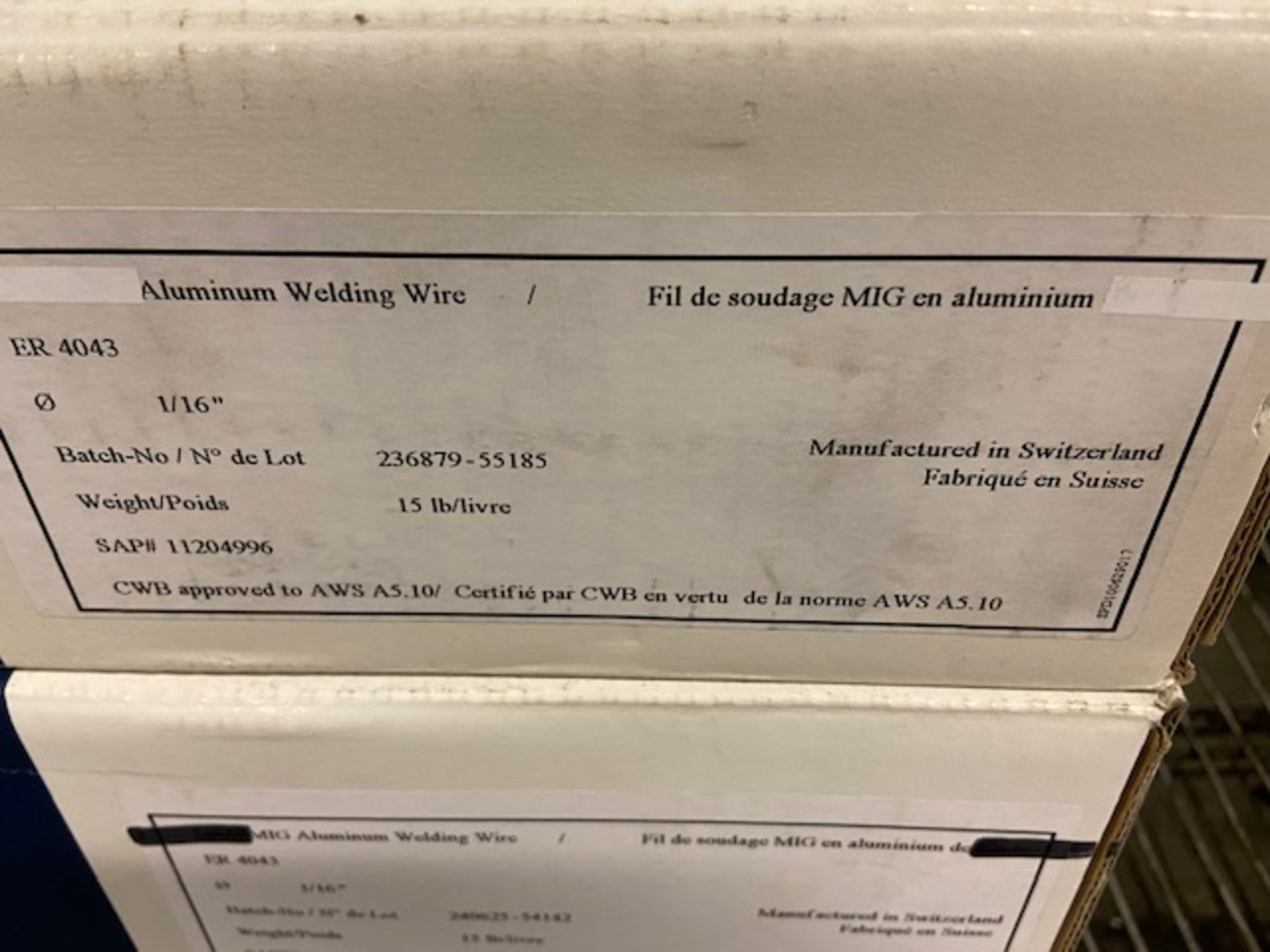 Lot of 4 Boxes of Linde Aluminum Wire - Image 2 of 2