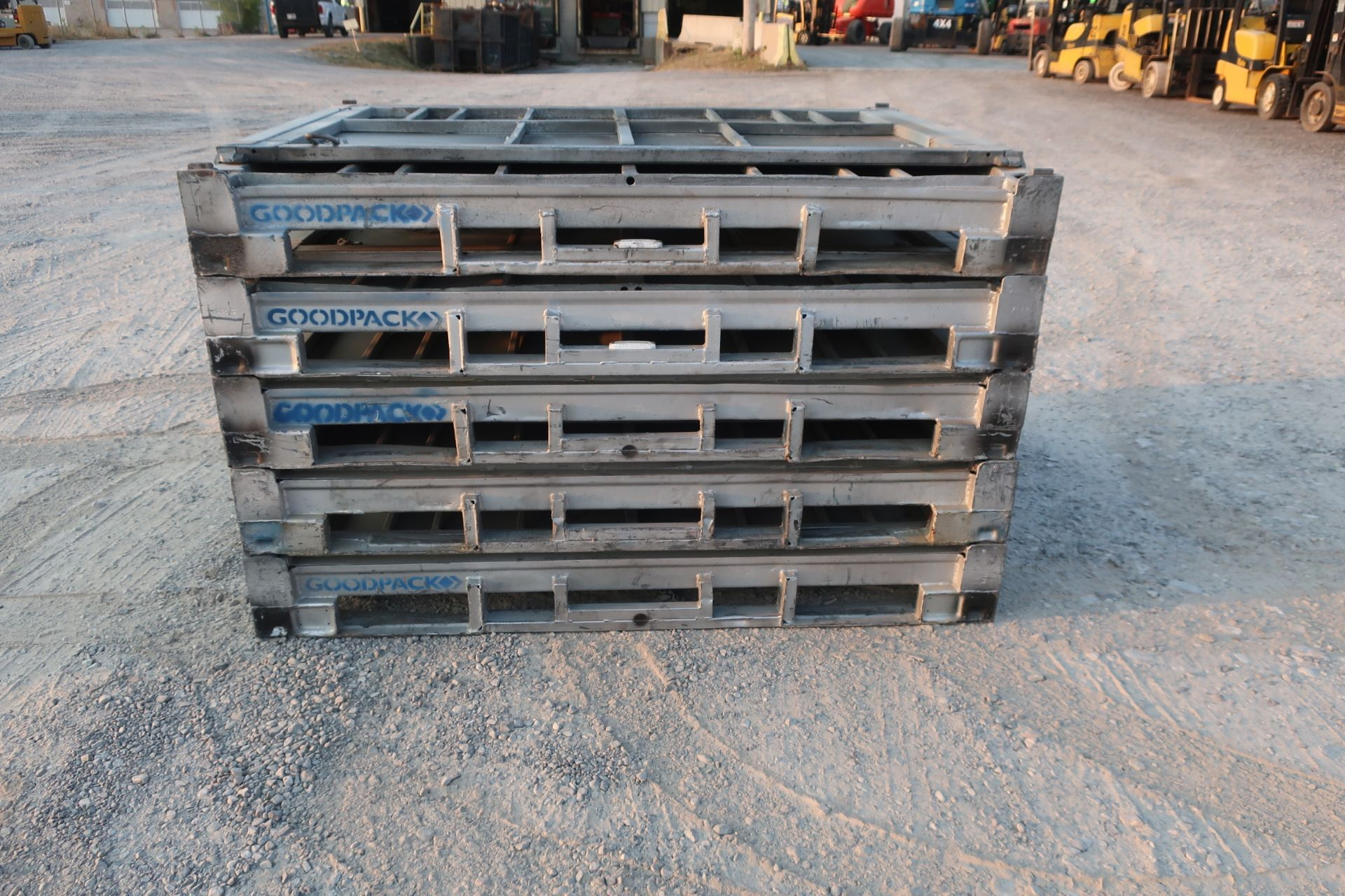 """Lot of 5 (5 Units) Steel Like New Folding Collapsable Bins - 58"""" x 45"""" x 43"""" tall (TIMES THE BID) - Image 4 of 4"""