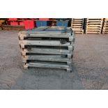 "Lot of 5 (5 Units) Steel Like New Folding Collapsable Bins - 58"" x 45"" x 43"" tall (TIMES THE BID)"