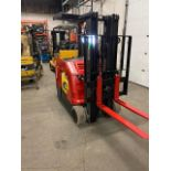 FREE CUSTOMS - 2014 Raymond 4000lbs Capacity Stand On Forklift Electric with 3-stage mast with