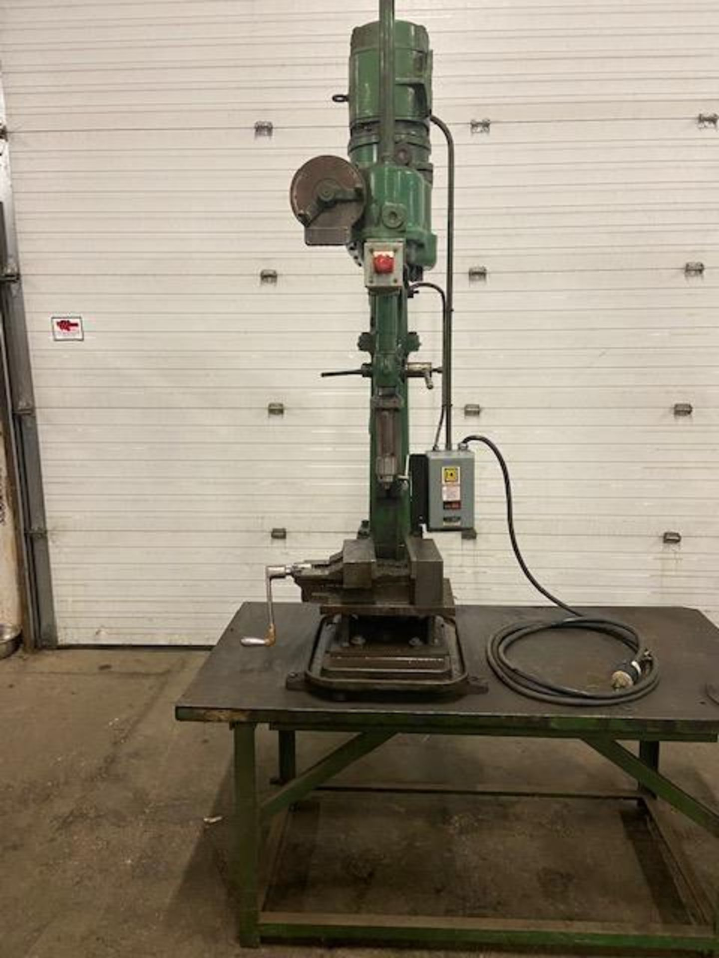 Fredk Pollard Gear Head Drill Press with adjustable table and Square D Breaker