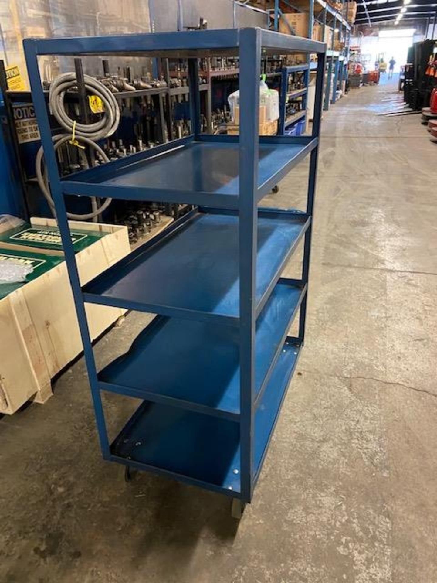 Rolling Cart - 5 Tier Shelves - Image 2 of 2