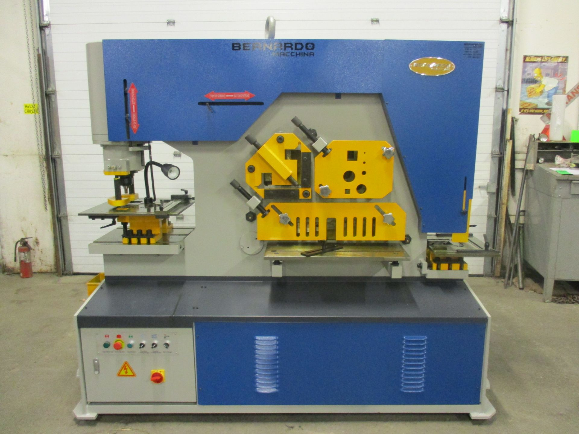 Bernardo Macchina 125 Ton Capacity Hydraulic Ironworker - complete with dies and punches - Dual