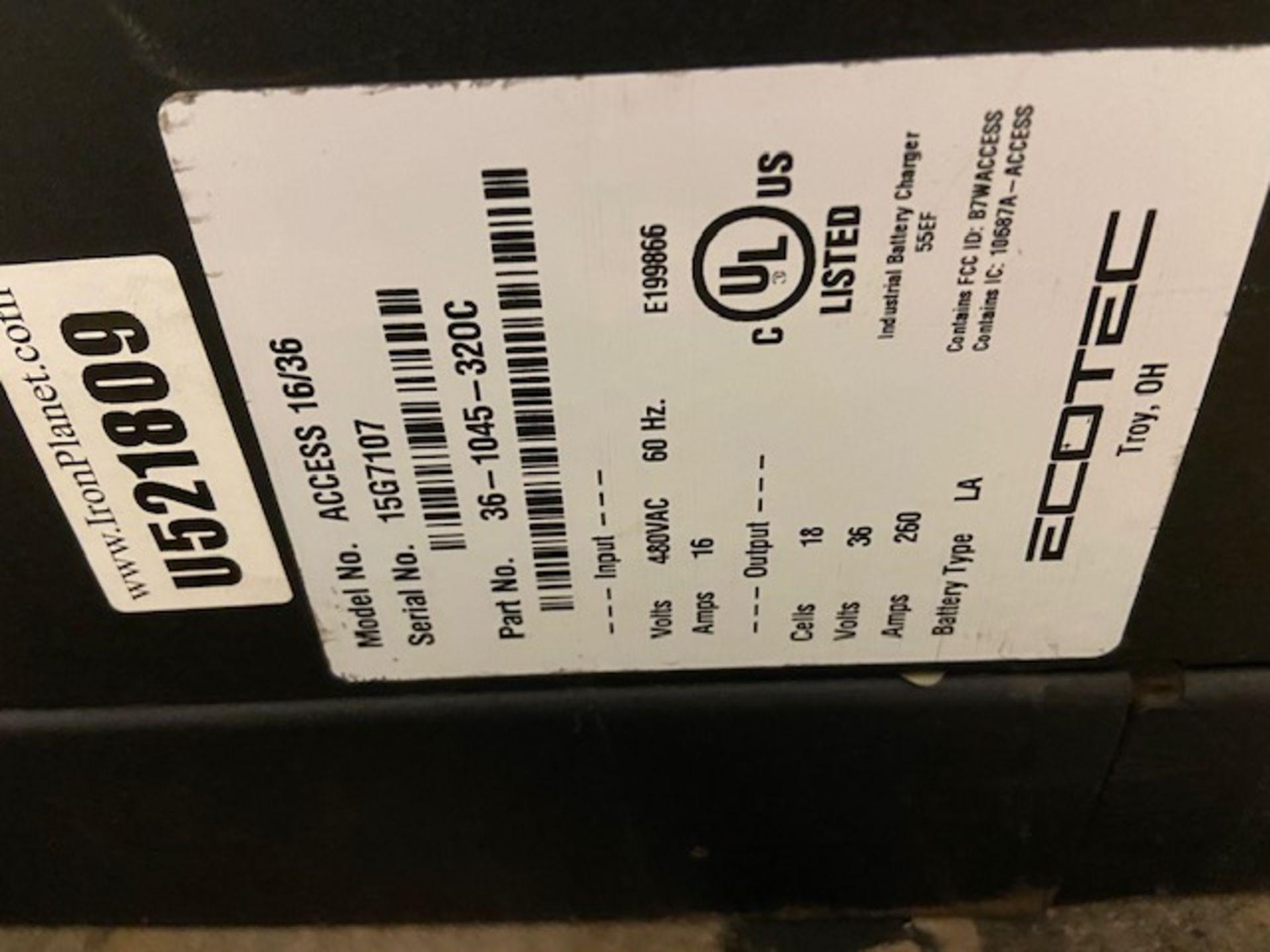 EcoTec Forklift Battery Charger - 36V unit - Image 3 of 3