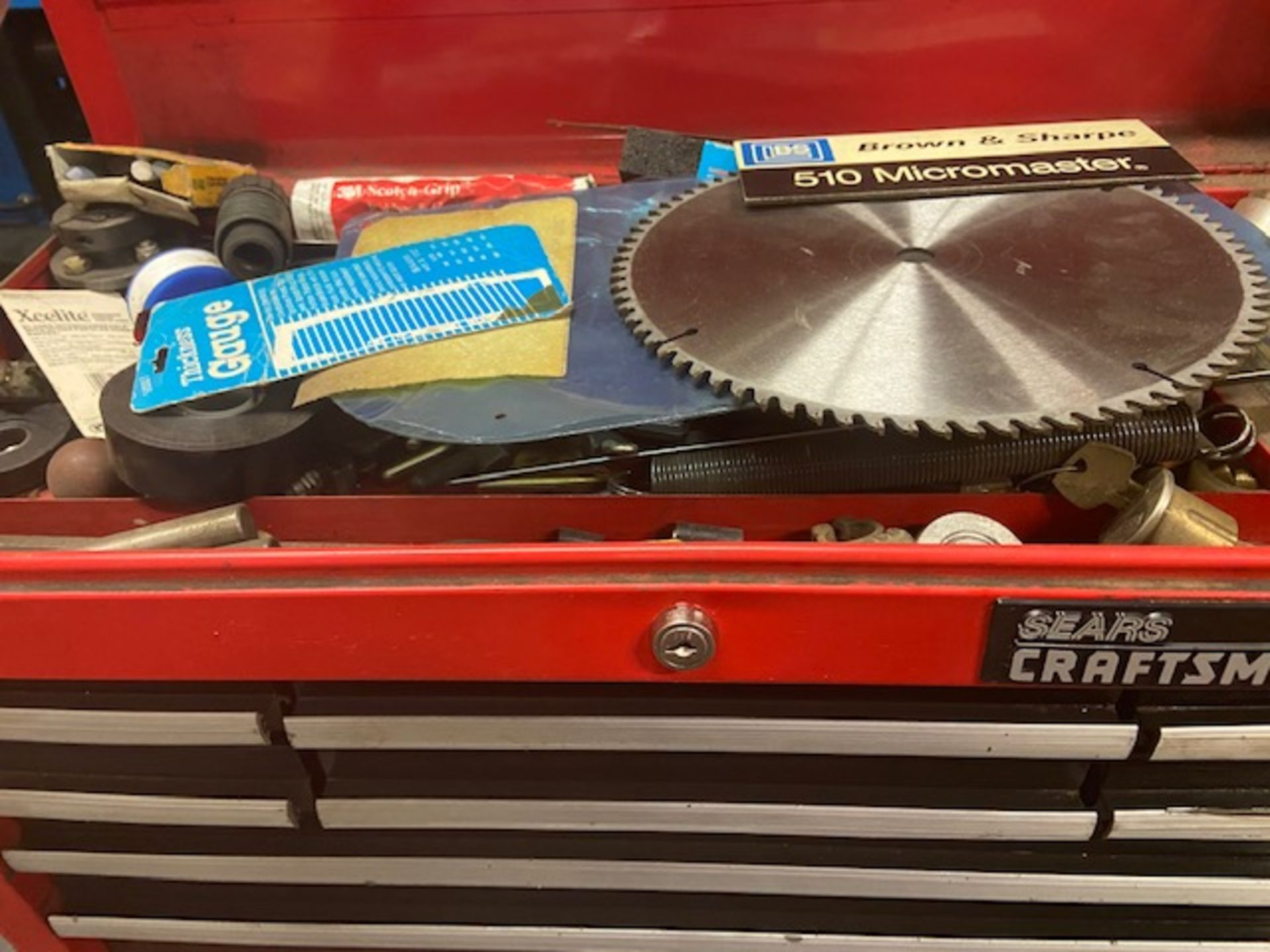 Mastercraft Heavy Duty Tool Cabinet LOADED with contents (hand tools, large drill bits and more) - Image 2 of 6