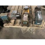 Lot of 3 (3 units) Brook Crompton Motors with Gear Boxes