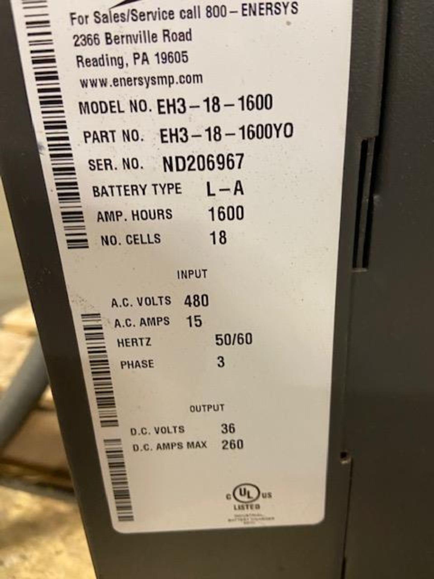 Enforcer Forklift Battery Charger 480V input 36V output - Image 2 of 2