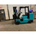 FREE CUSTOMS - Mitsubishi 10000lbs capacity LPG (propane) Forklift with 3-stage mast and sideshift