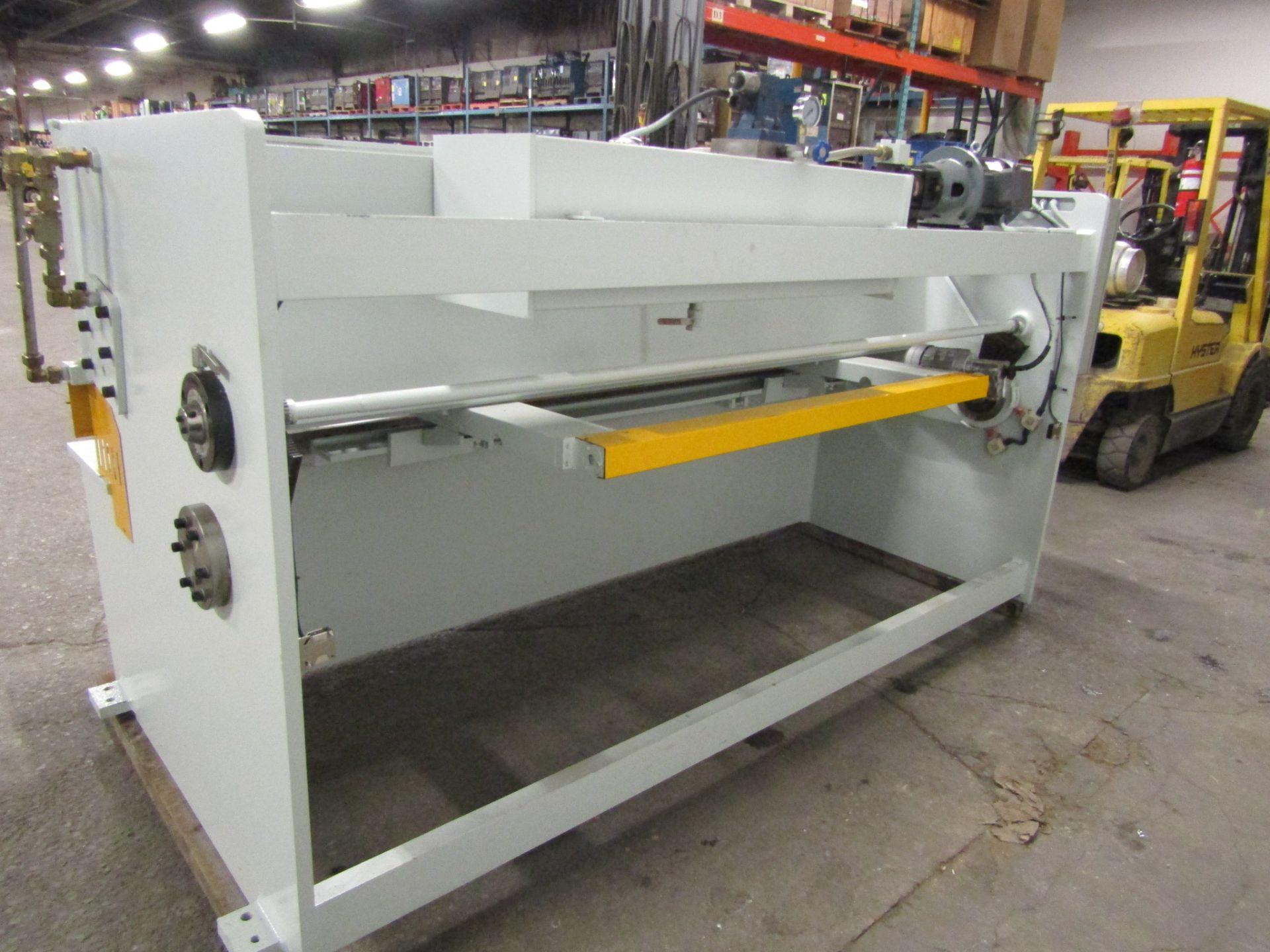 "Bernardo Hydraulic Shear 3/16"" max capacity 98"" width - 480/575V 3 phase MINT UNUSED UNIT complete - Image 4 of 6"