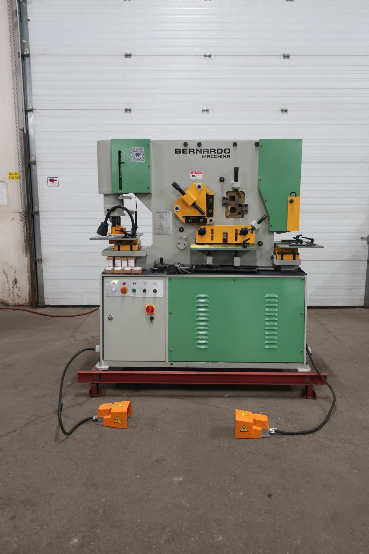 Bernardo Macchina 65 Ton Capacity Hydraulic Ironworker - complete with dies and punches - Dual
