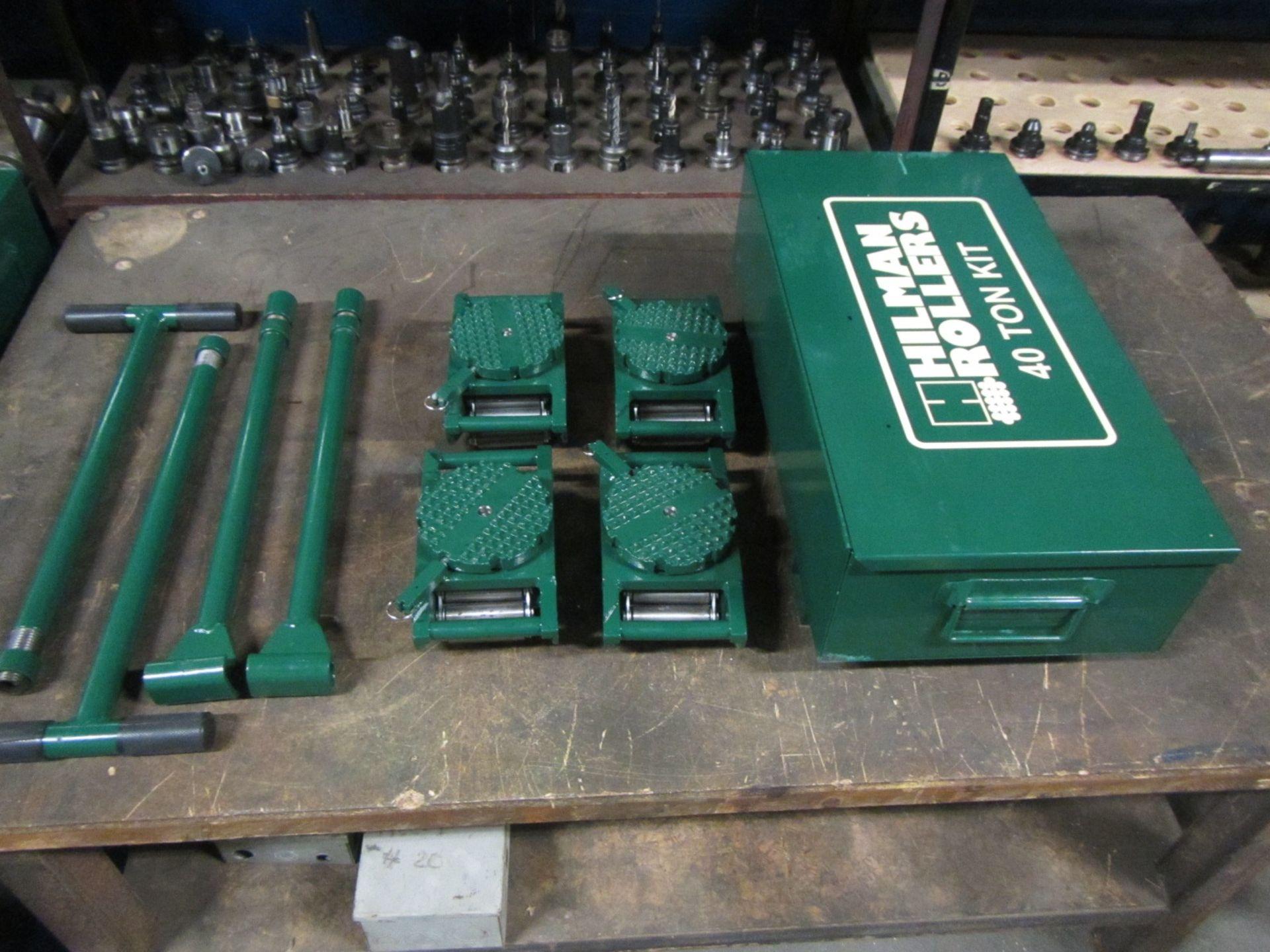 Hilman Type Roller Set Machinery moving skates - 40 Ton Deluxe Kit - 4 x 10 ton units