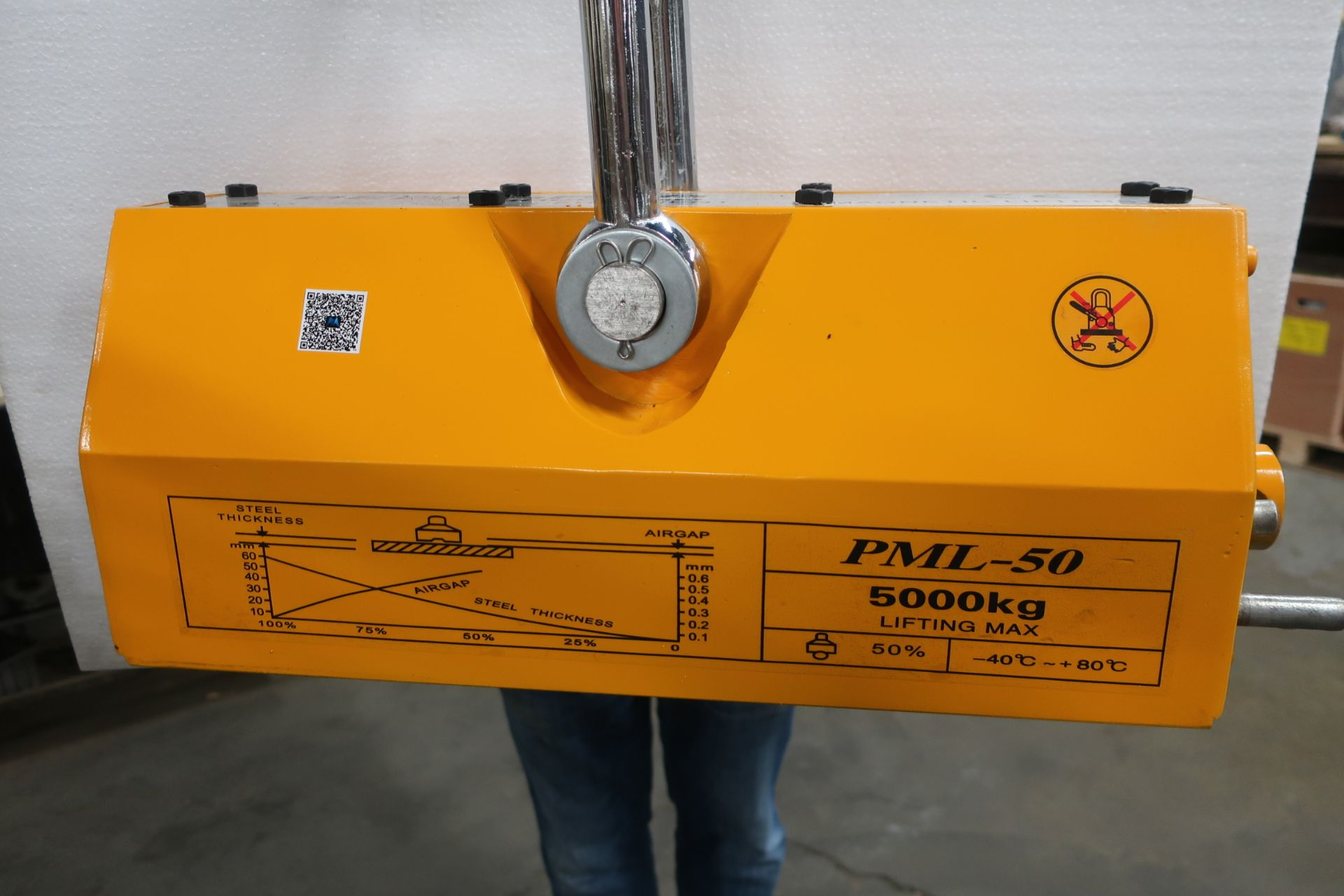 Bernardo 11,000lbs / 5 ton HUGE Heavy Duty Lifting Magnet - for plate and pipe - MINT UNIT