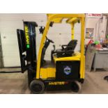 FREE CUSTOMS - 2015 Hyster 3000lbs Capacity Forklift Electric with 3-STAGE MAST with sideshift