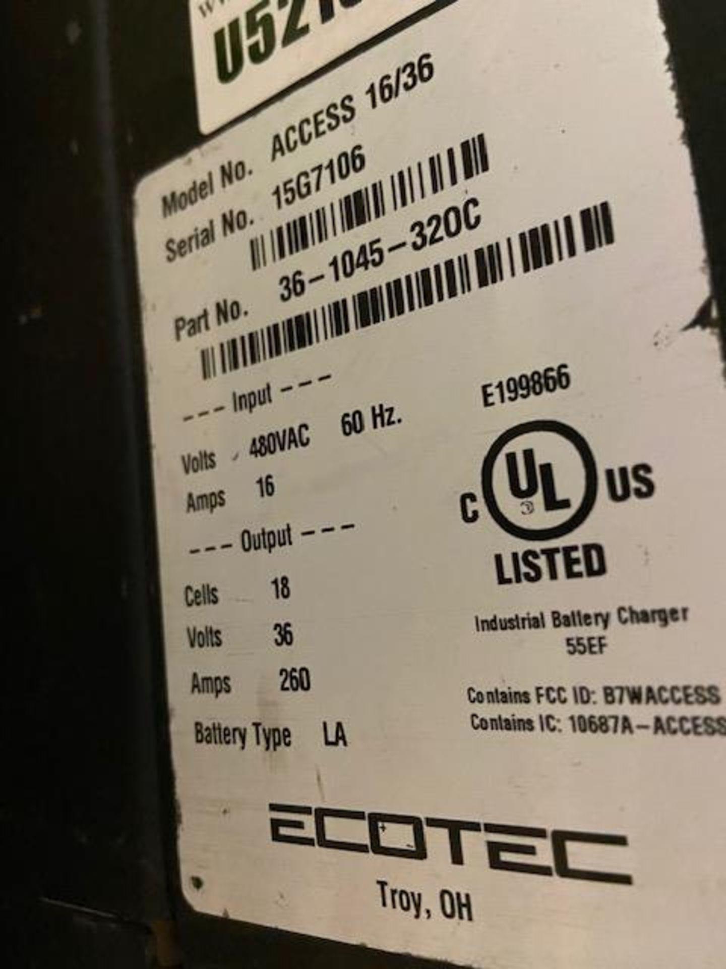 EcoTec Forklift Battery Charger - 36V unit - Image 2 of 2