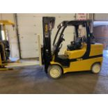 """FREE CUSTOMS - 2009 Yale 10,000lbs Forklift with sideshift 3-stage mast LPG (propane) 54"""" forks"""