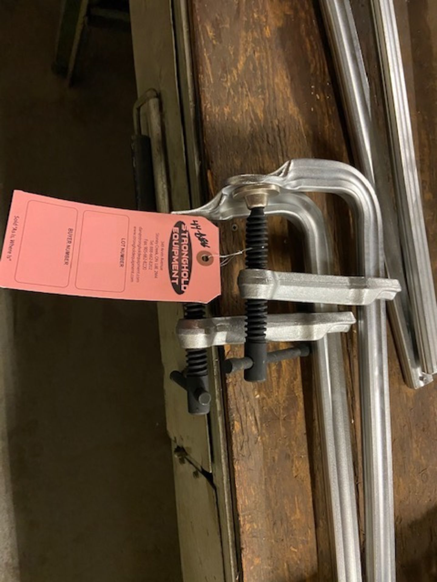 """Lot of 2 MINT BESSEY style F-CLAMPS - UNUSED-NEW - 44"""" long"""