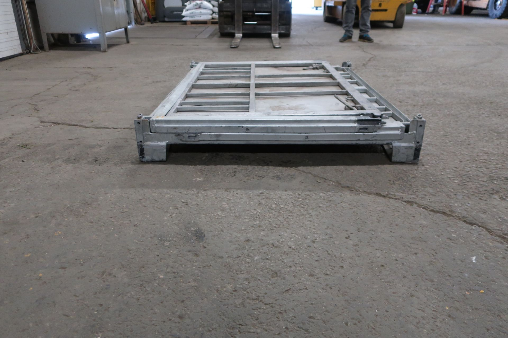 """Lot of 5 (5 Units) Steel Like New Folding Collapsable Bins - 58"""" x 45"""" x 43"""" tall (TIMES THE BID) - Image 3 of 3"""