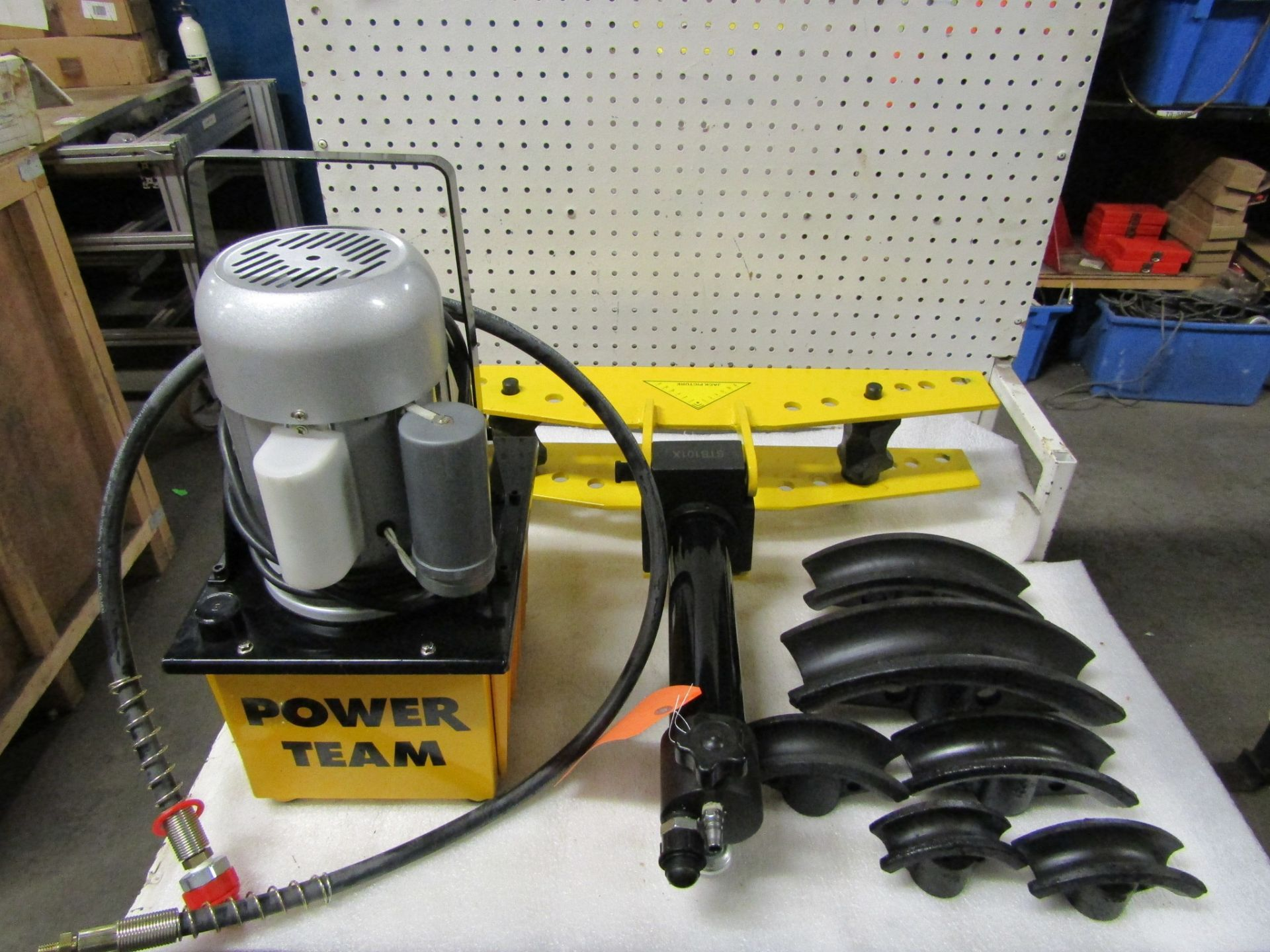 """Power Team Hydraulics style Tube Bender Set with Powerpack pump included with 6 dies up to 2"""""""