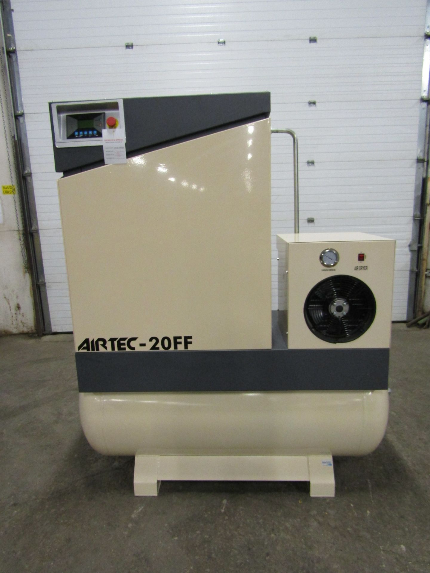 Airtec model 20FF - 20HP Air Compressor with built on DRYER - MINT UNUSED COMPRESSOR with 125 Gallon