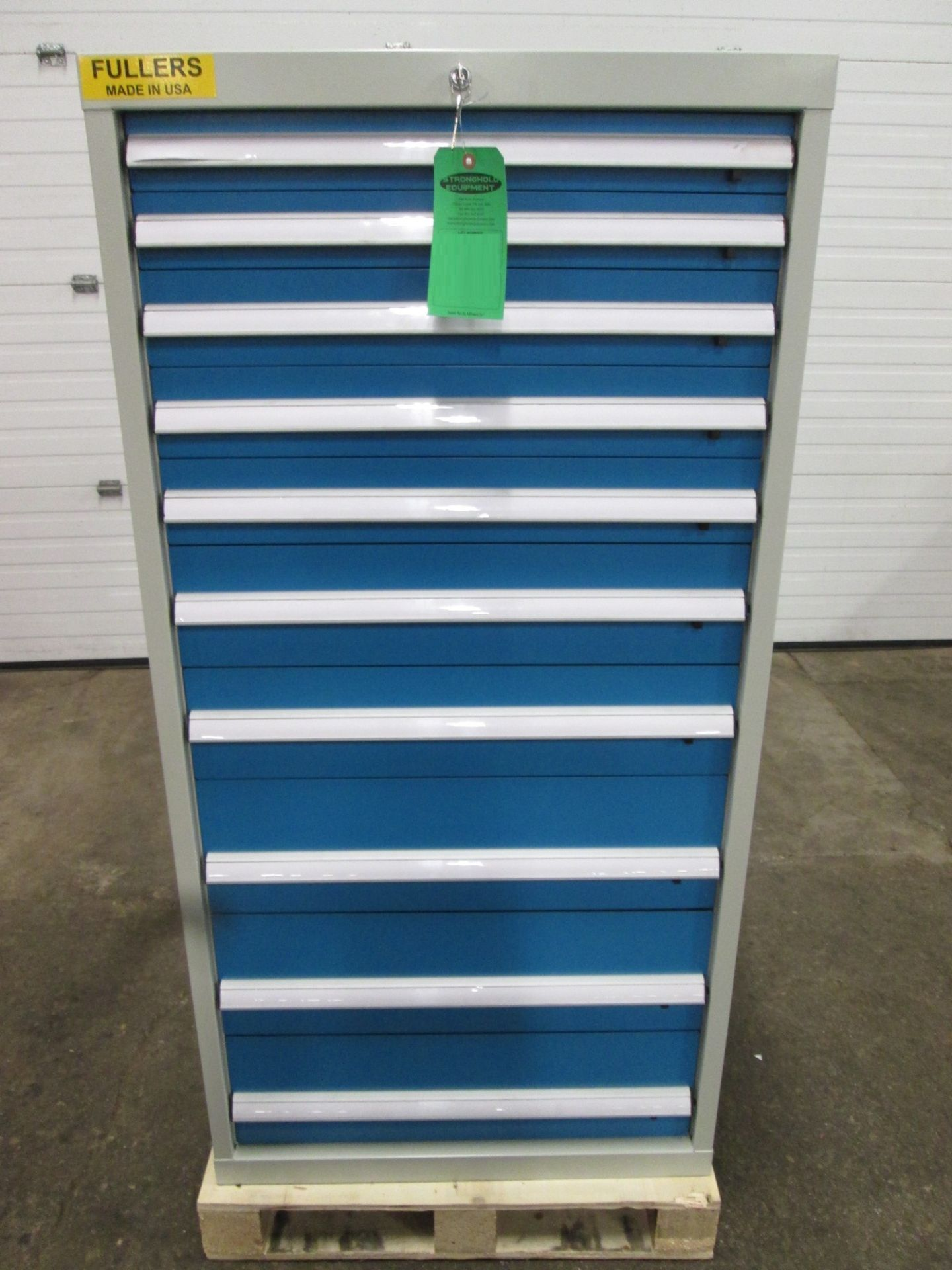 Lista type FULLERS 10 Drawer Heavy Duty Tool Cabinet - with drawer dividers and lock with keys