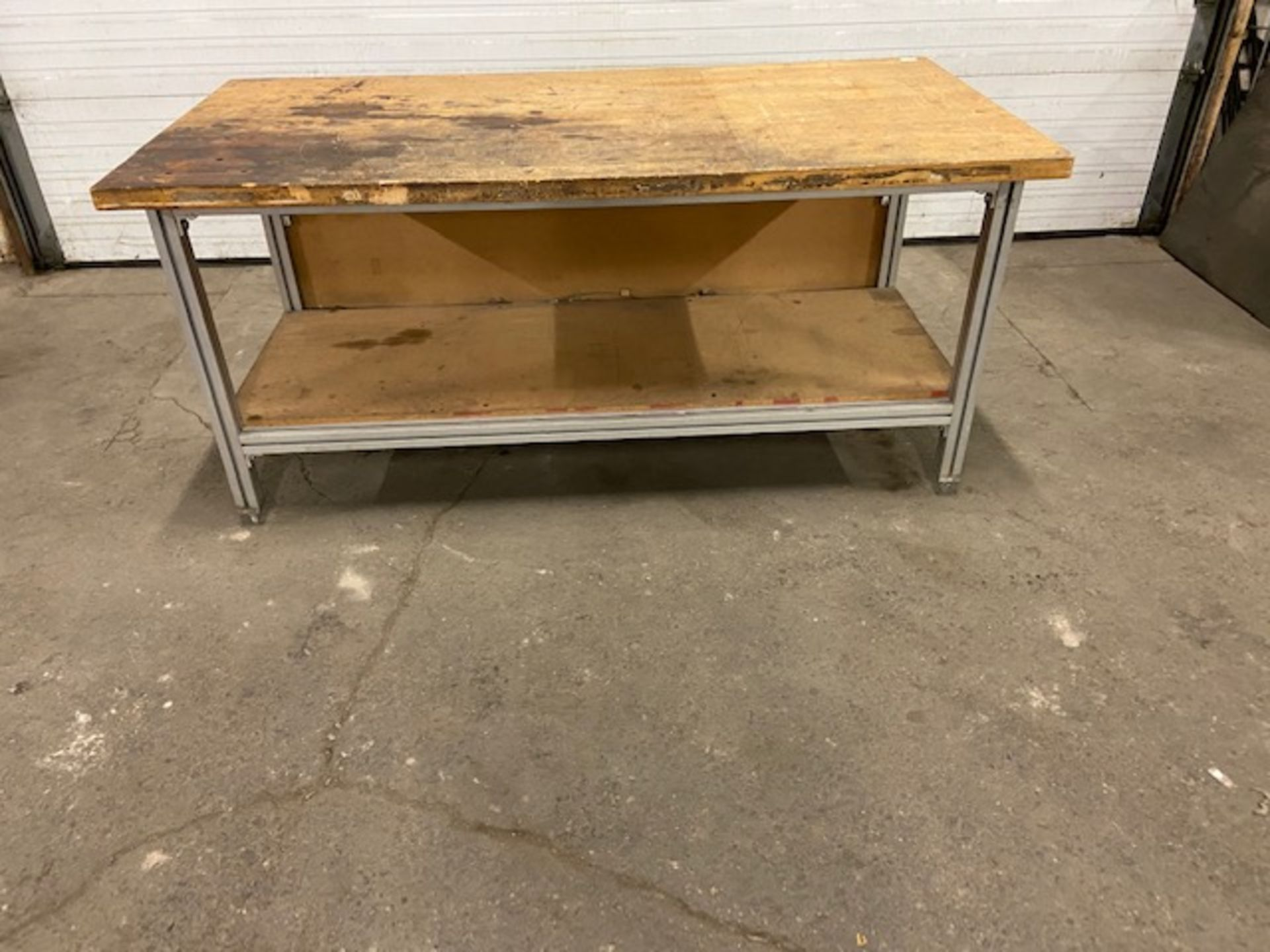 """Work Table Work Bench Unit 72"""" x 36"""" with Wood Table Top"""
