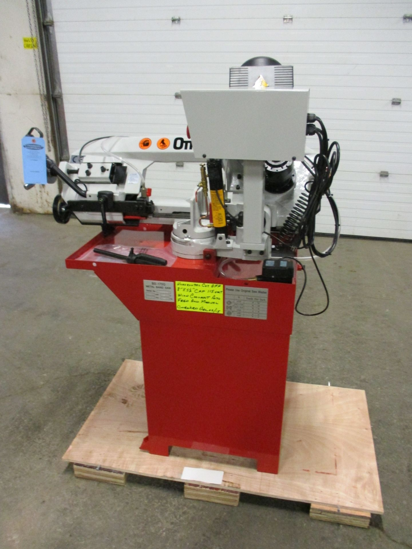 Omni Horizontal Band Saw - GEAR DRIVEN MOTOR with POWER HEAD with Automatic & Manual cut - MINT & - Image 2 of 2