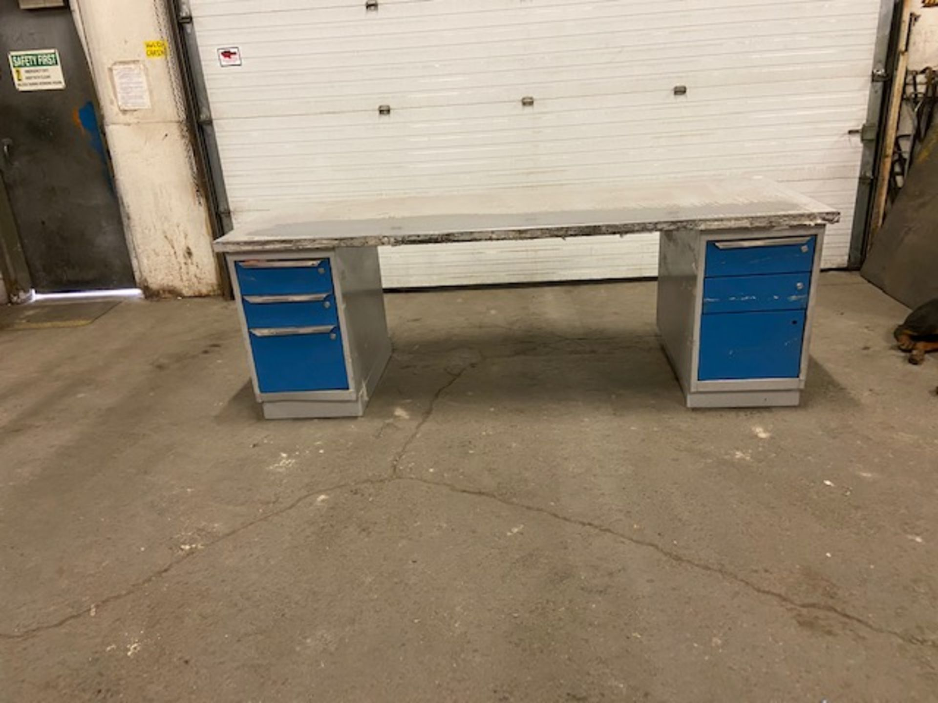 """Work Table Work Bench Unit 96"""" x 36"""" with Drawers"""
