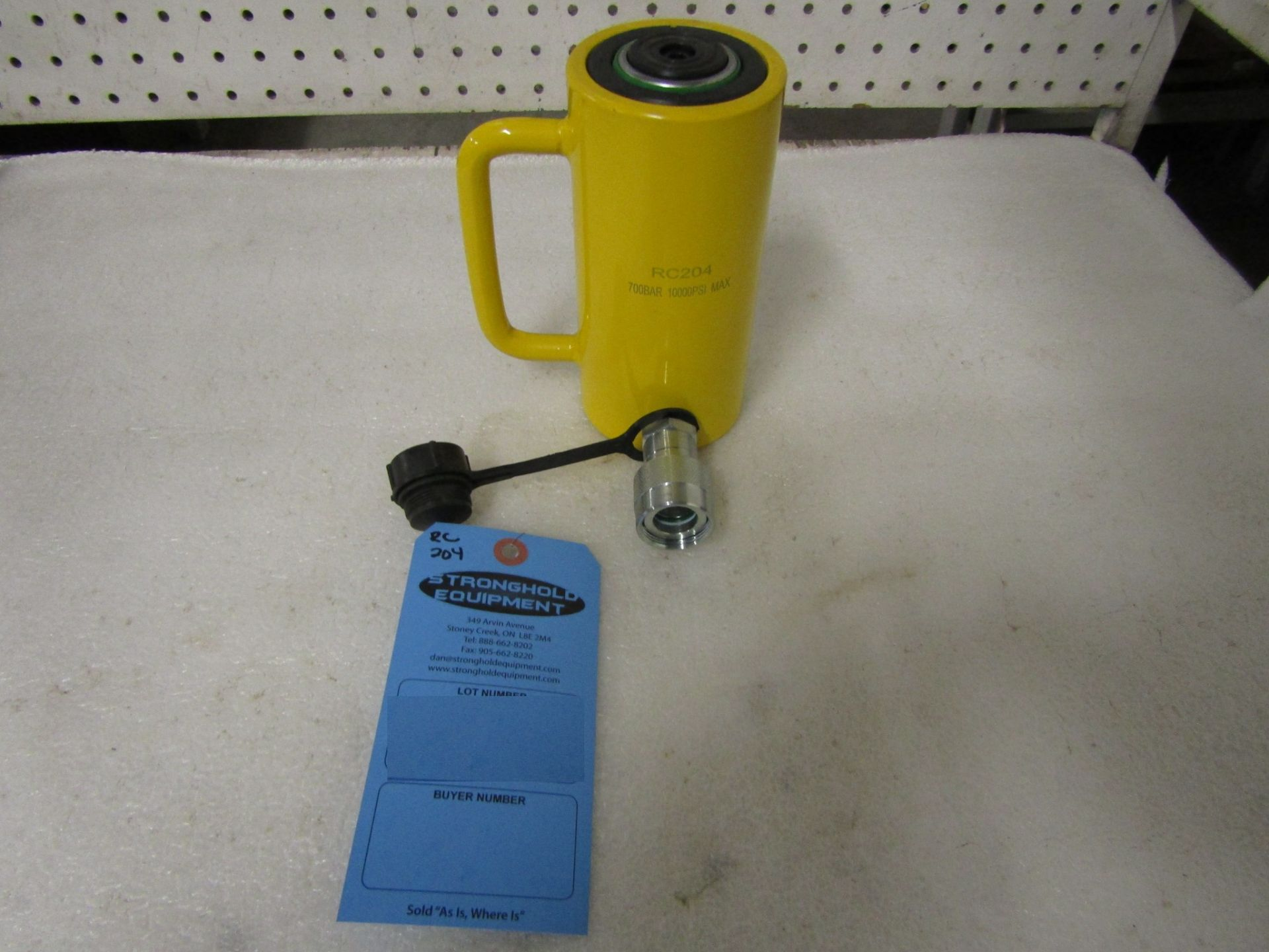 """RC-204 MINT - 20 ton Hydraulic Jack with 4"""" stroke type cylinder"""