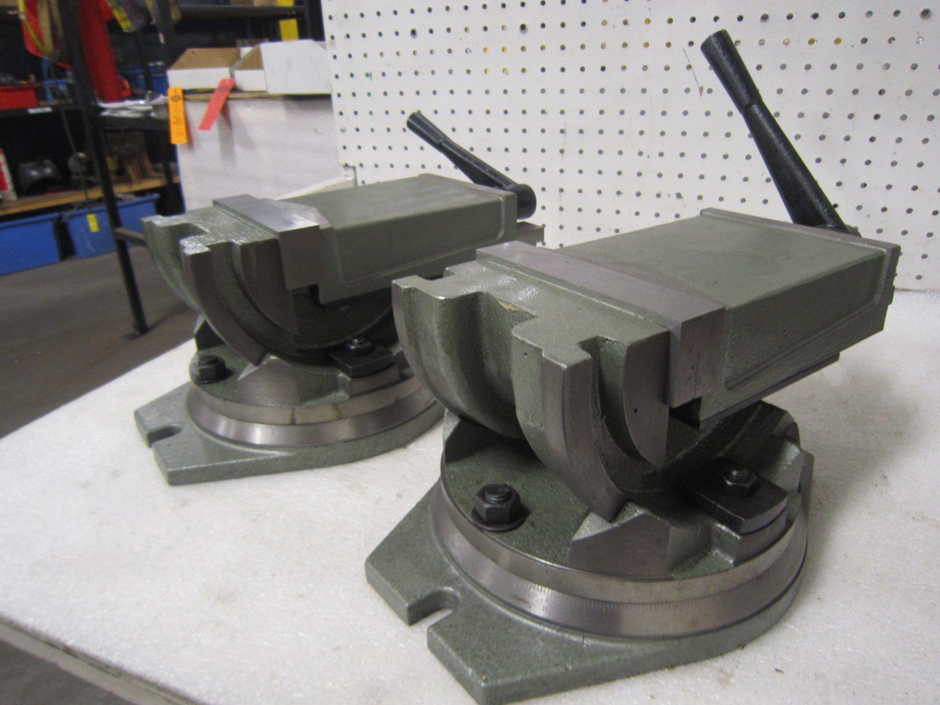 "Lot of 2 (2 units) MINT & UNUSED 6"" Machine Vise Unit fully swivels and tilts"