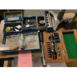 Large Lot of Inspection Equipment with Finger Indicator & Diatest Bore Gauge Set with Bore