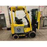 FREE CUSTOMS - 2014 Hyster 5000lbs Capacity Forklift Electric with 3-STAGE MAST with sideshift