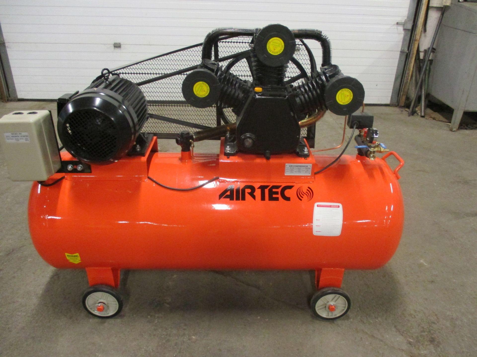 Airtec 10HP Air Compressor - MINT UNUSED COMPRESSOR with 80 Gallon horizontal compressed air