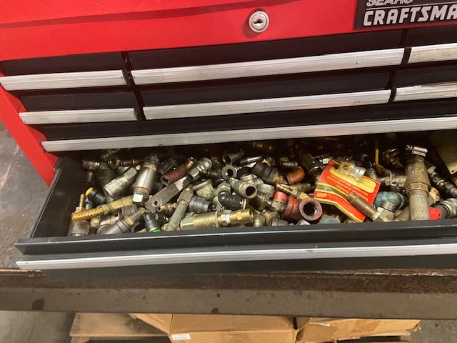 Mastercraft Heavy Duty Tool Cabinet LOADED with contents (hand tools, large drill bits and more) - Image 6 of 6