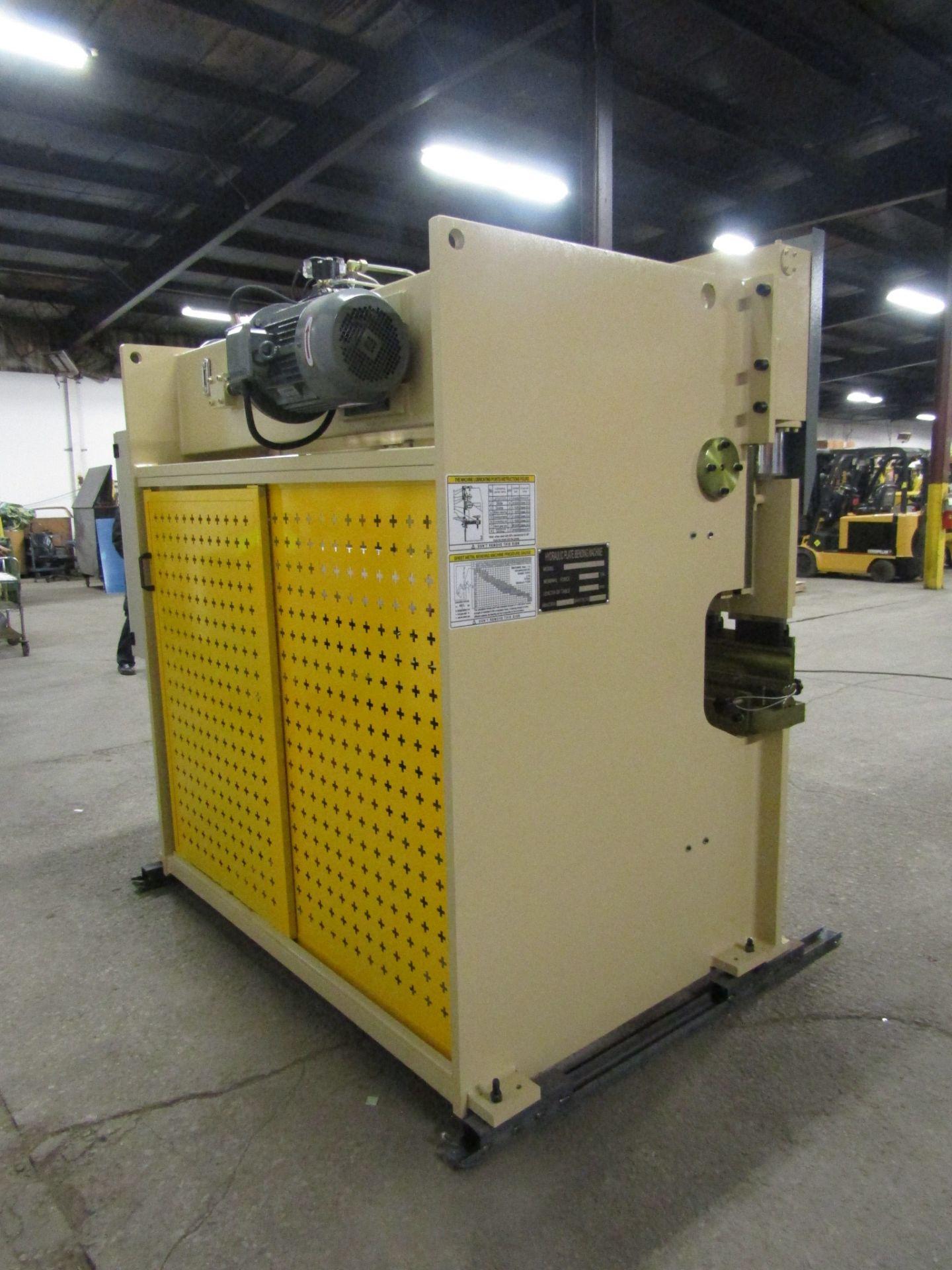 "Bernardo Hydraulic Press Brake 63 ton capacity 80"" bed - 480/575V 3 phase with CNC back gauge and - Image 3 of 3"