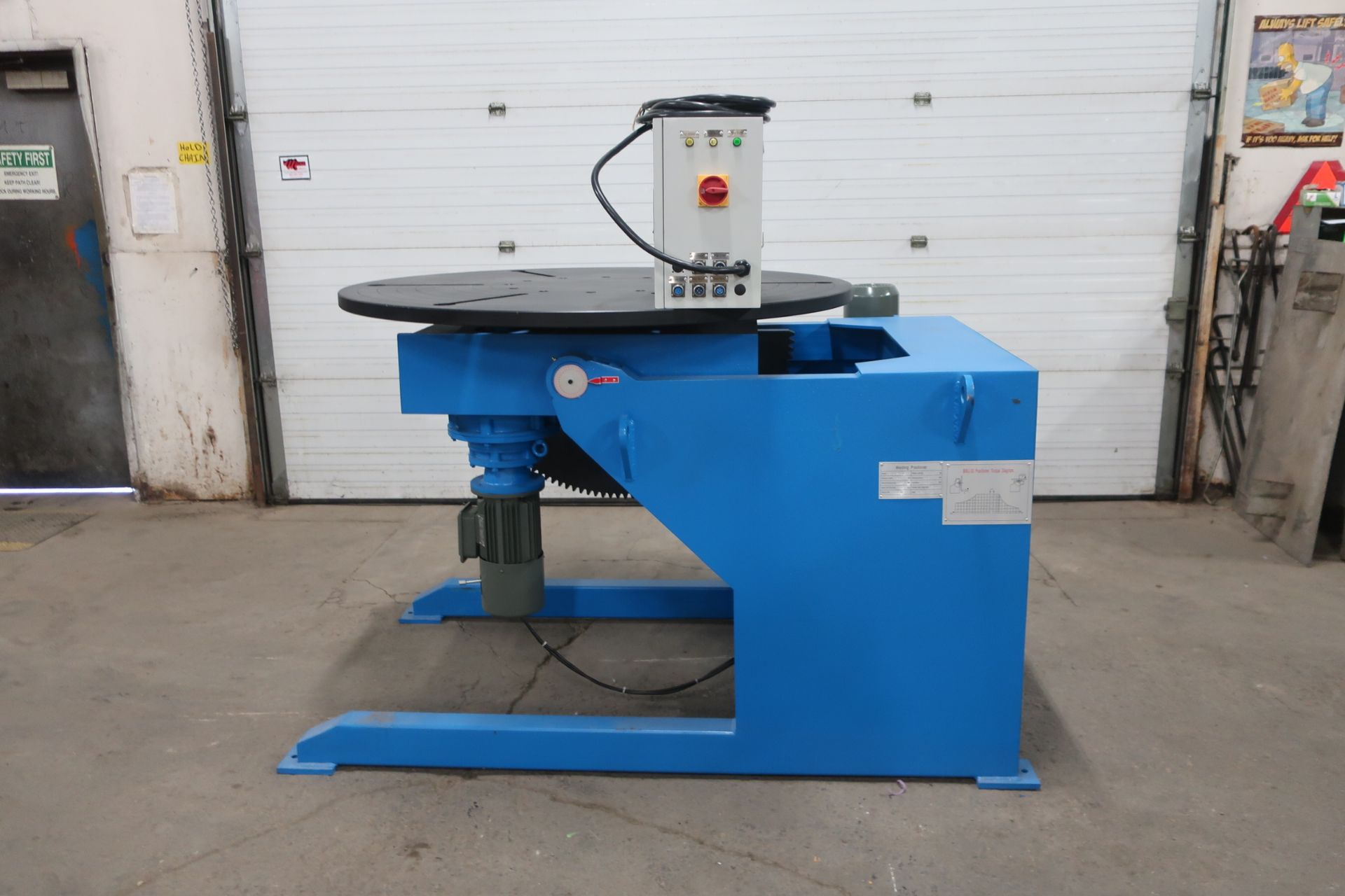 BWJ-30 WELDING POSITIONER 3000kg or 6600lbs capacity - tilt and rotate with variable speed drive and