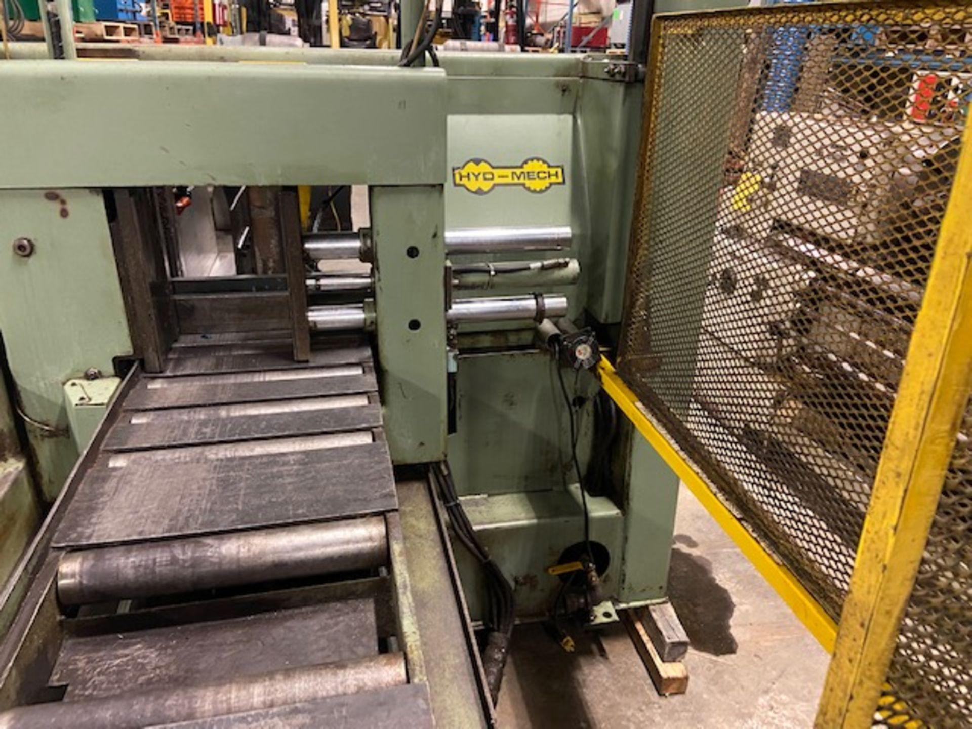 Hyd-Mech H-14 Fully Automatic horizontal band saw automatic feed and auto bundling system NICE - Image 4 of 4