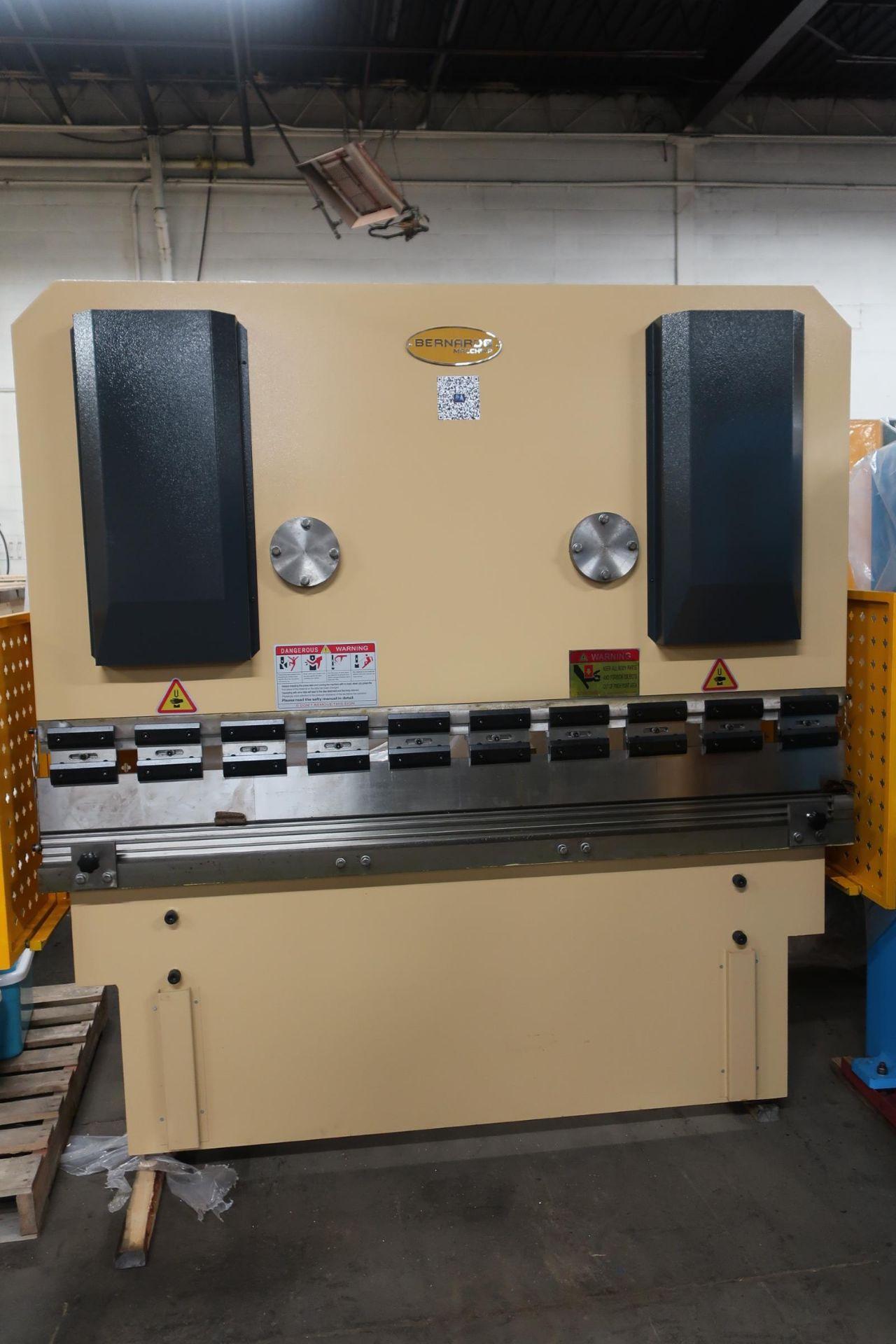 "Bernardo Hydraulic Press Brake 63 ton capacity 80"" bed - 480/575V 3 phase with CNC back gauge and"