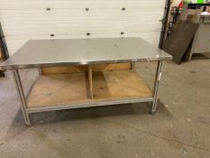 """Work Table Work Bench Unit 72"""" x 44"""" with Stainless Steel Table Top"""