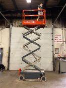 SkyJack III Electric Scissor Lift model 3219 - 19 feet lift, 32 inch width deck pendant controller